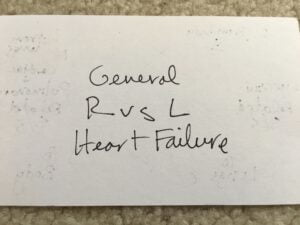 General R vs L Heart Failure
